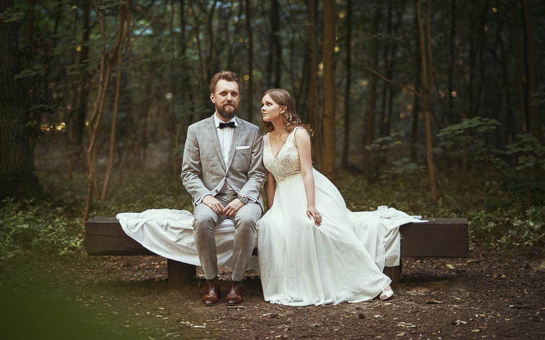 Leśny plener ślubny w Warszawie